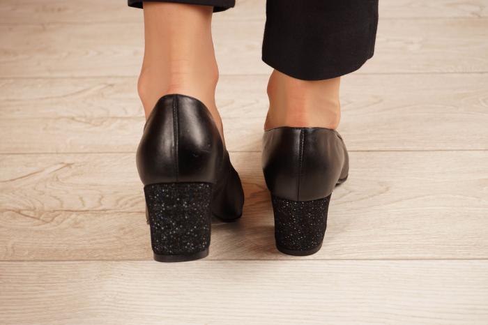 Pantofi dama din piele naturala neagra MSPD52519-1-20 [3]