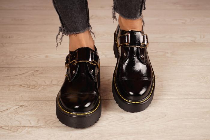 Pantofi dama din piele naturala neagra MSPD54821-21 [3]