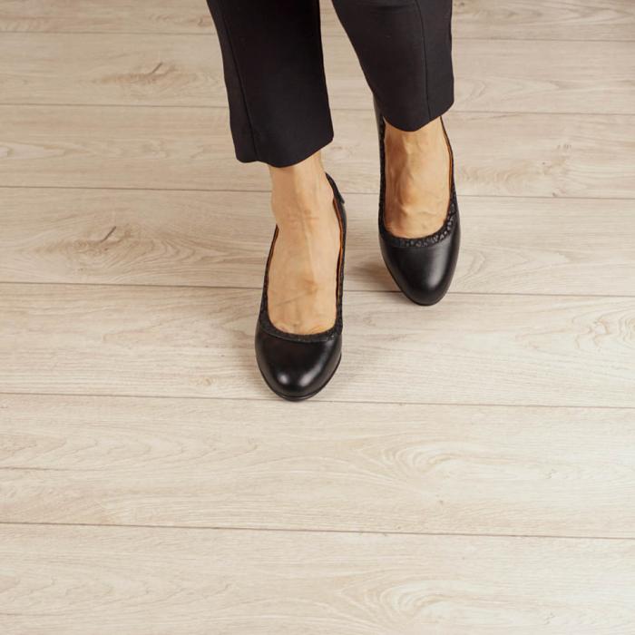 Pantofi dama din piele naturala neagra MSPD56719-1-20 [2]