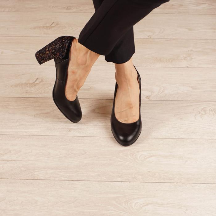 Pantofi dama din piele naturala neagra MSPD57019-1-20 [1]