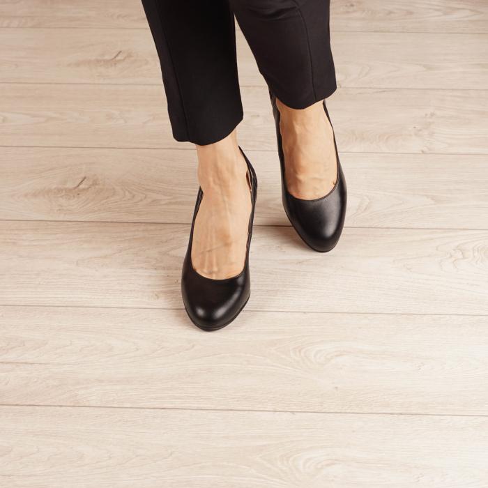 Pantofi dama din piele naturala neagra MSPD57019-1-20 [2]