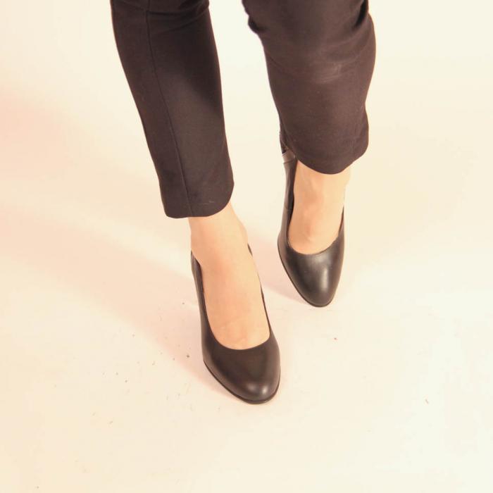 Pantofi dama din piele naturala neagra MSPD57019-20 [2]