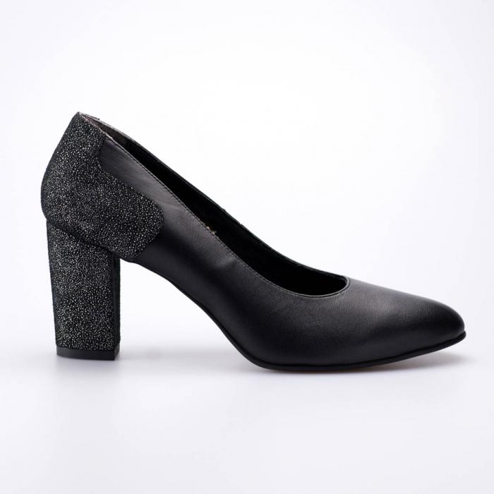 Pantofi dama din piele naturala neagra MSPD57818-19 [1]