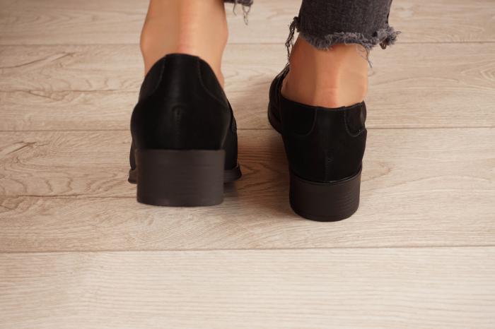 Pantofi dama din piele naturala neagra MSPD58120-21 [4]