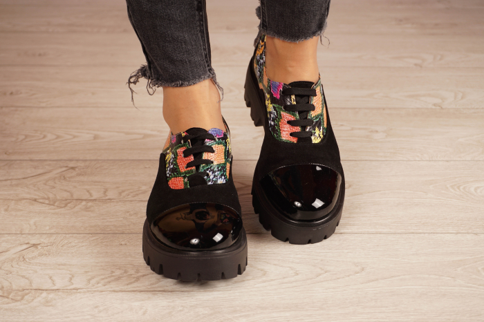 Pantofi dama din piele naturala neagra MSPD59820-20 [4]
