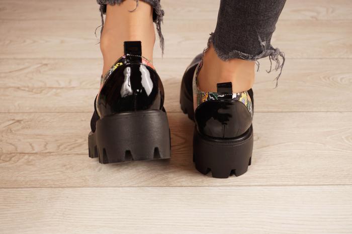 Pantofi dama din piele naturala neagra MSPD59820-20 [3]