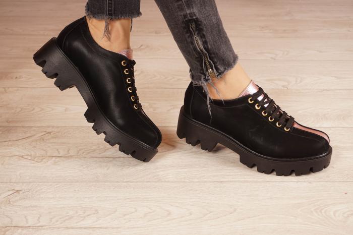 Pantofi dama din piele naturala neagra MSPD61420-21 [1]