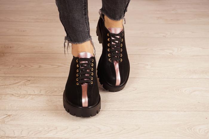 Pantofi dama din piele naturala neagra MSPD61420-21 [3]