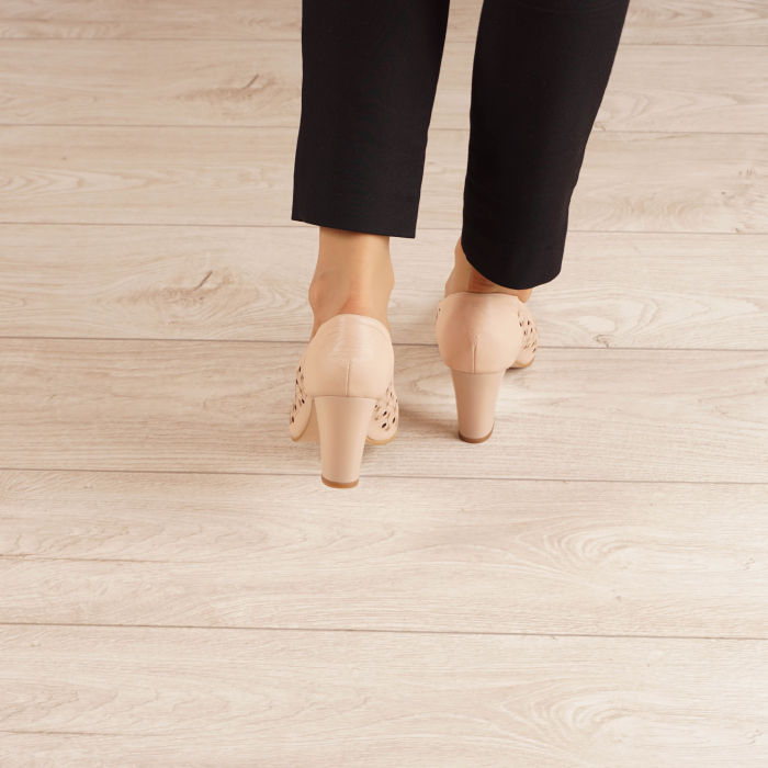 Pantofi dama din piele naturala nude laserata MSPD51820L46-20 [3]