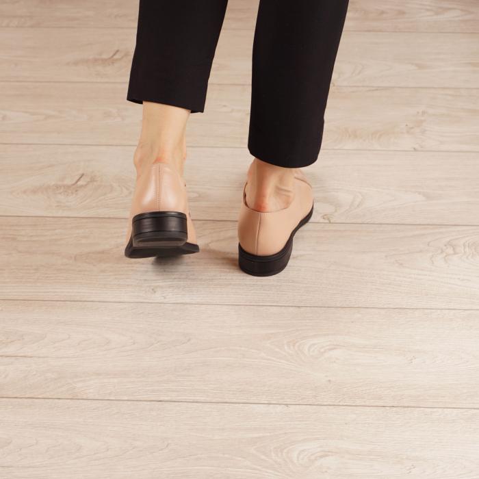 Pantofi dama din piele naturala nude MSPD59016-3-20 3