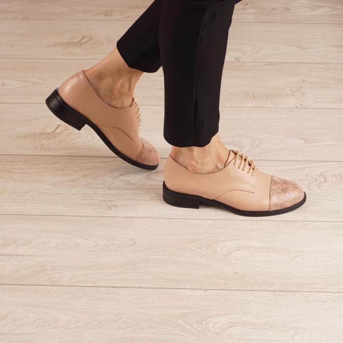 Pantofi dama din piele naturala nude MSPD59016-3-20 0