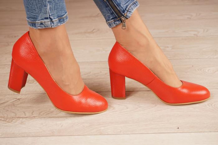 Pantofi dama din piele naturala rosie MSPD52017-1-21 [2]