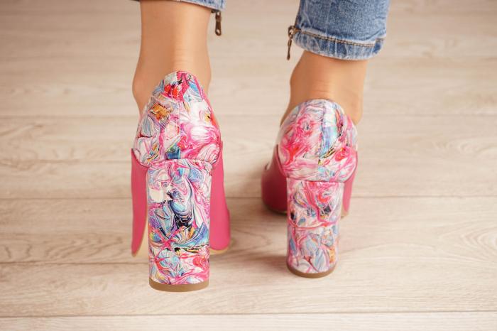 Pantofi dama din piele naturala fuxia MSPD56020-1-20 [3]