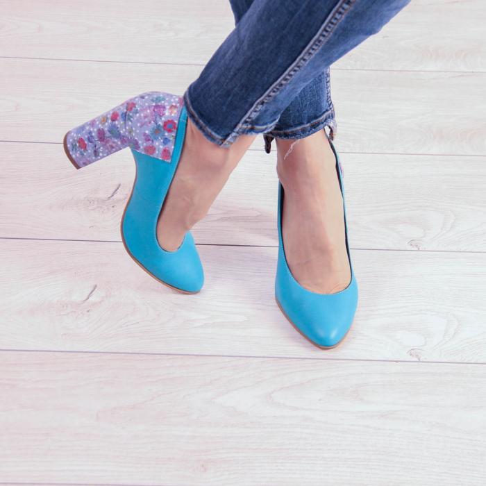 Pantofi dama din piele naturala turcoaz MSPD53018-20 [1]
