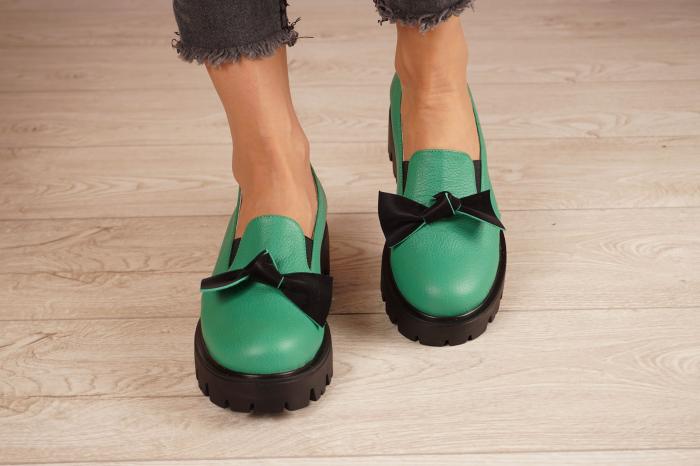 Pantofi dama din piele naturala verde MSPD57319-21 [3]