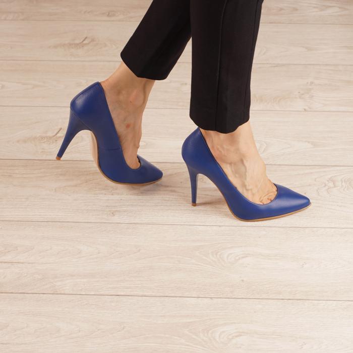 Pantofi dama din piele naturala albastru electric MSPD190-29-20 [0]