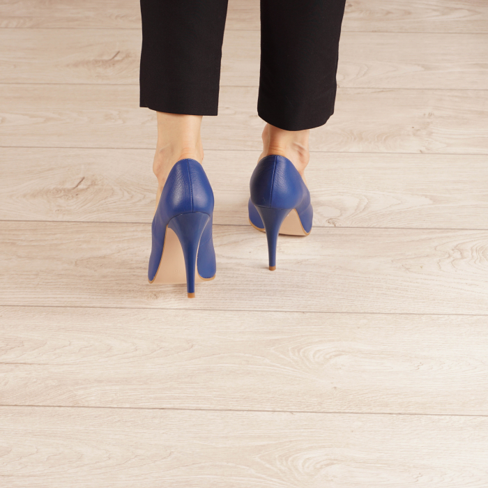 Pantofi dama din piele naturala albastru electric MSPD190-29-20 [3]