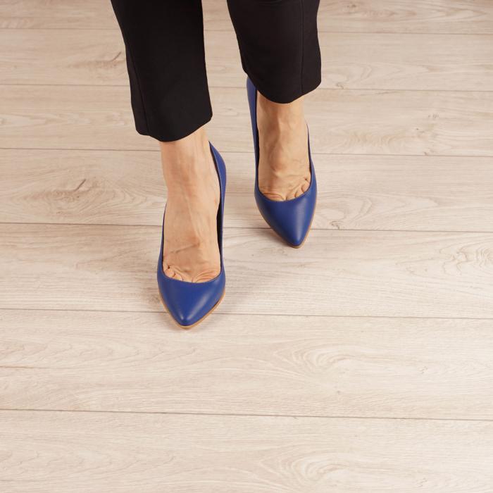 Pantofi dama din piele naturala albastru electric MSPD190-29-20 [2]