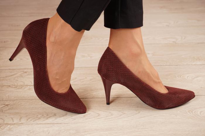 Pantofi dama stiletto din piele naturala cu imprimeu MSPD190-2-21 [1]