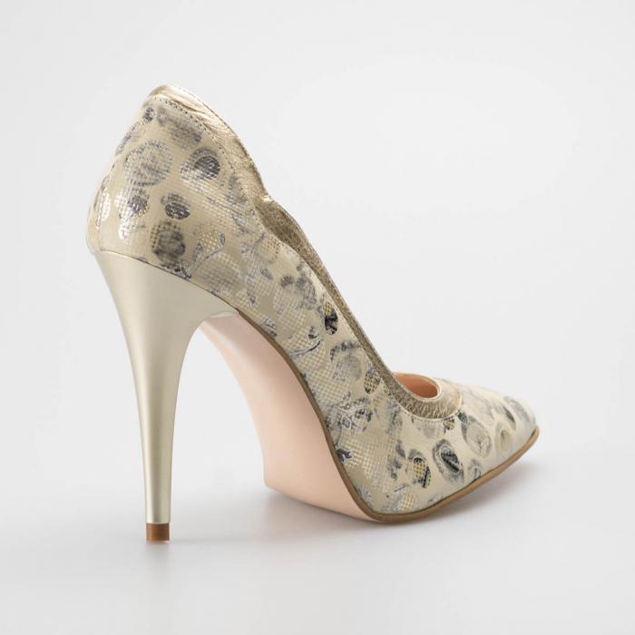 Pantofi dama din piele naturala cu imprimeu MSPD54619-19 [1]