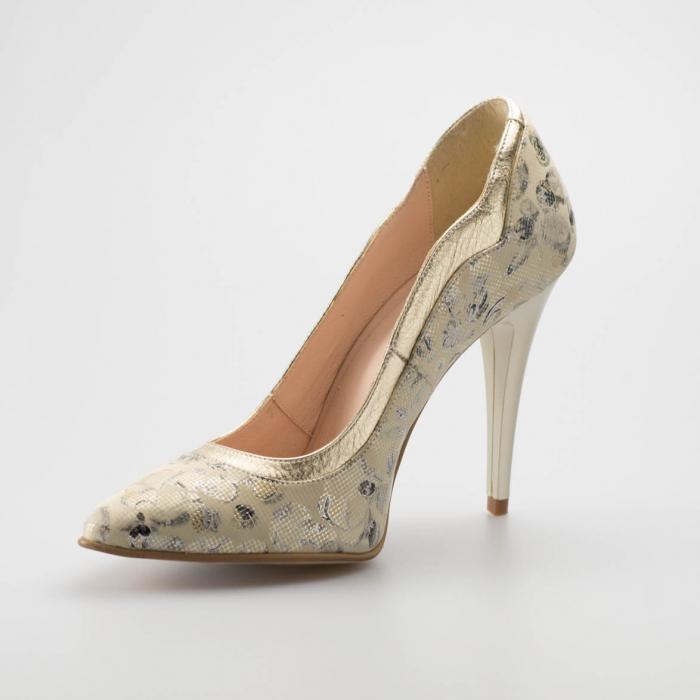 Pantofi dama din piele naturala cu imprimeu MSPD54619-19 [2]