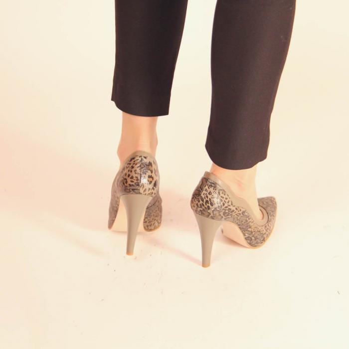 Pantofi dama din piele naturala cu imprimeu MSPD54619-20 [3]