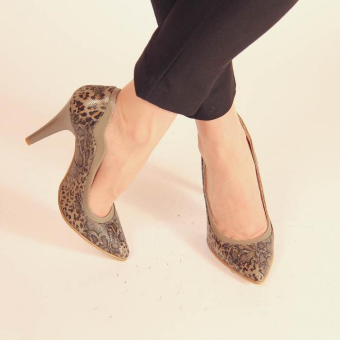 Pantofi dama din piele naturala cu imprimeu MSPD54619-20 [1]