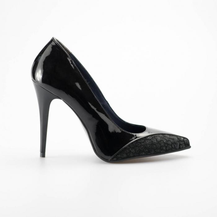 Pantofi dama din piele naturala lacuita MSPD51219-19 [0]