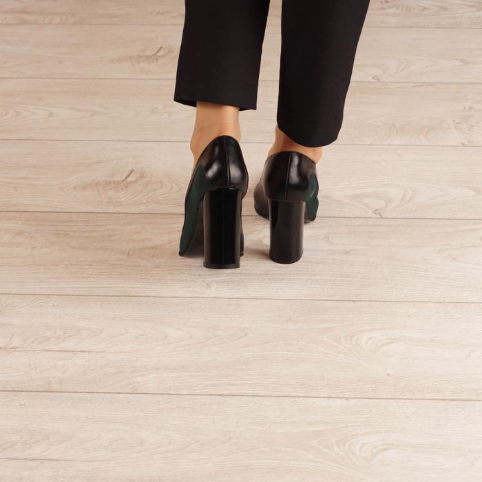 Pantofi dama din piele naturala verde MSPD51519-1-20 [3]