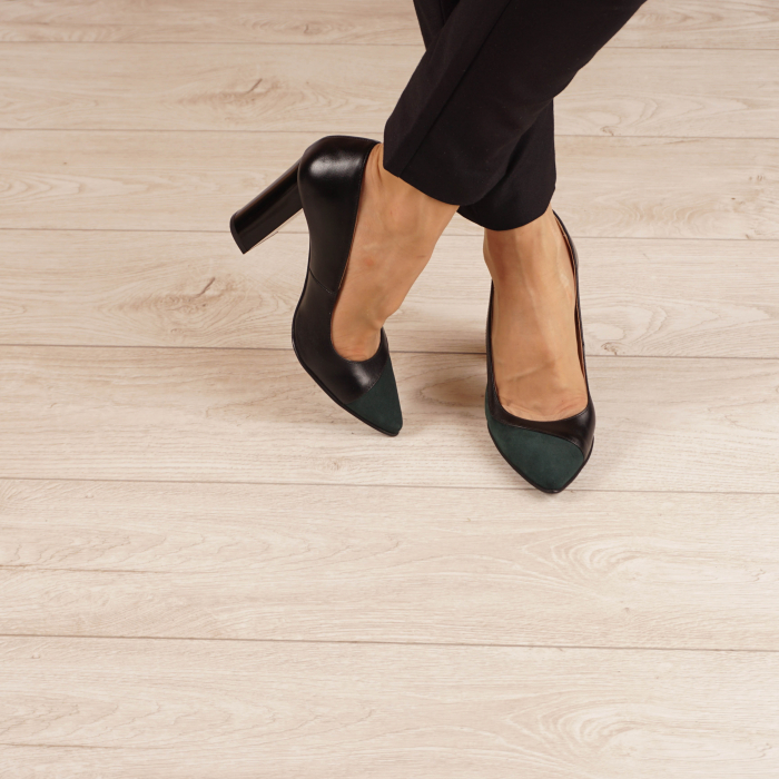 Pantofi dama din piele naturala verde MSPD51519-1-20 [2]