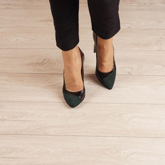Pantofi dama din piele naturala verde MSPD51519-1-20 [1]
