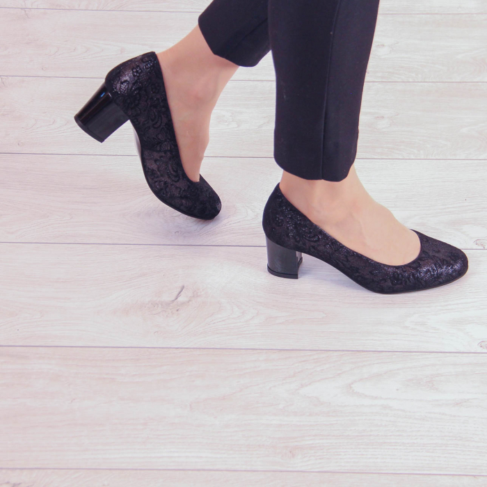 Pantofi dama din piele naturala cu imprimeu MSPD190-8-20 [0]