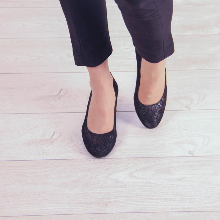 Pantofi dama din piele naturala cu imprimeu MSPD190-8-20 [2]