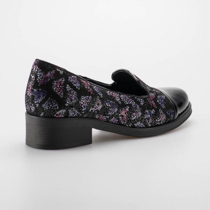 Pantofi dama din piele naturala cu imprimeu MSPD50918-19 1