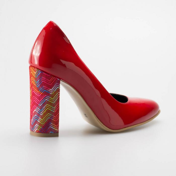 Pantofi dama din piele naturala lacuita rosie MSPD190-11-19 [1]
