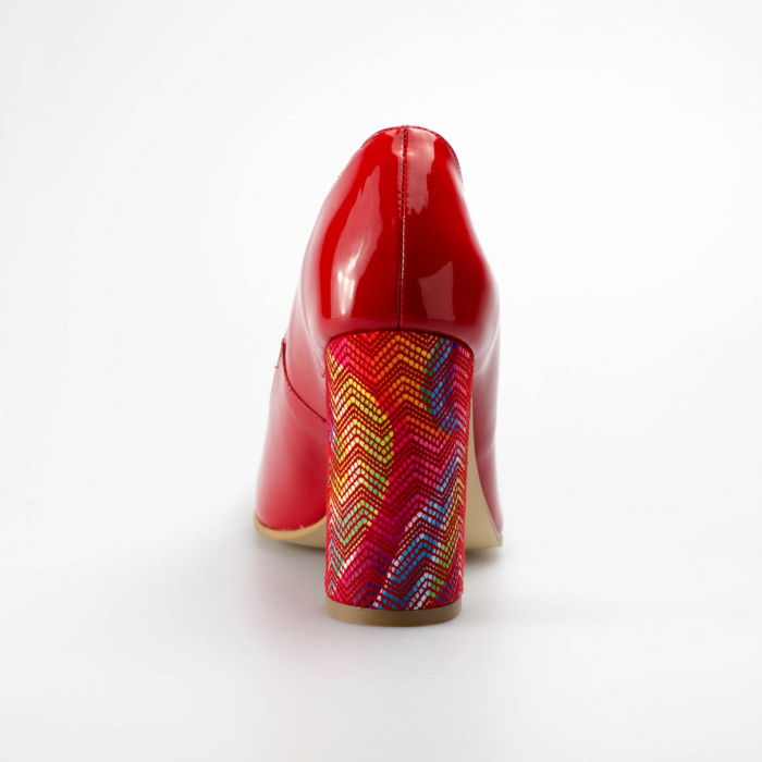 Pantofi dama din piele naturala lacuita rosie MSPD190-11-19 [3]