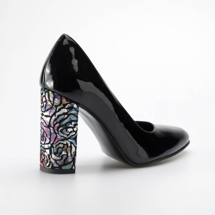 Pantofi dama din piele naturala lacuita neagra MSPD190-13-19 [1]
