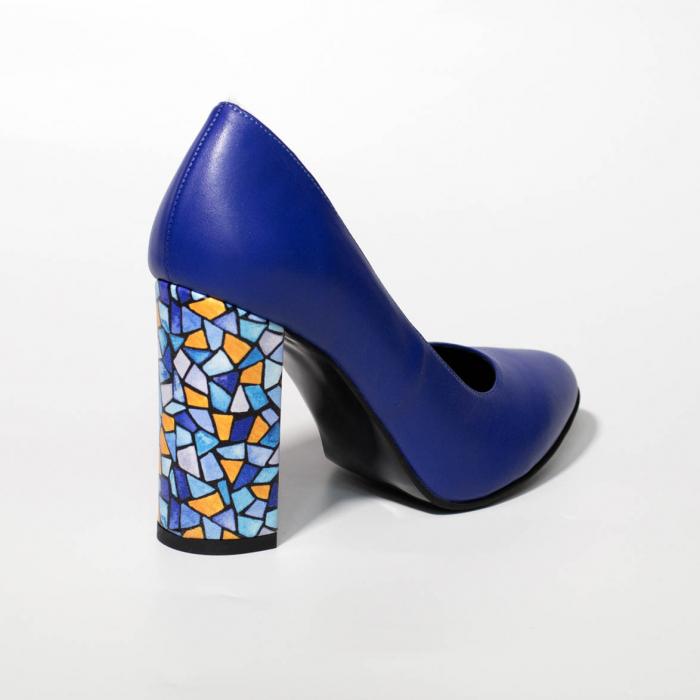 Pantofi dama din piele naturala albastra MSPD190-26-19 [1]
