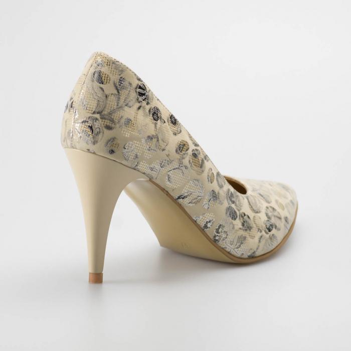 Pantofi dama din piele naturala cu imprimeu MSPD190-12-19 [1]