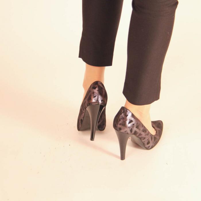 Pantofi dama din piele naturala cu imprimeu MSPD190-12-20 [3]