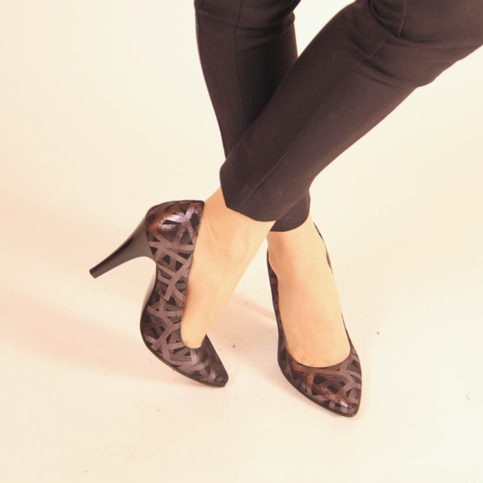 Pantofi dama din piele naturala cu imprimeu MSPD190-12-20 [1]