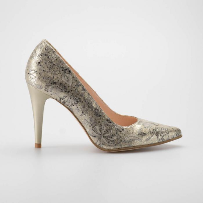 Pantofi dama din piele naturala cu imprimeu MSPD190-77-19 [0]