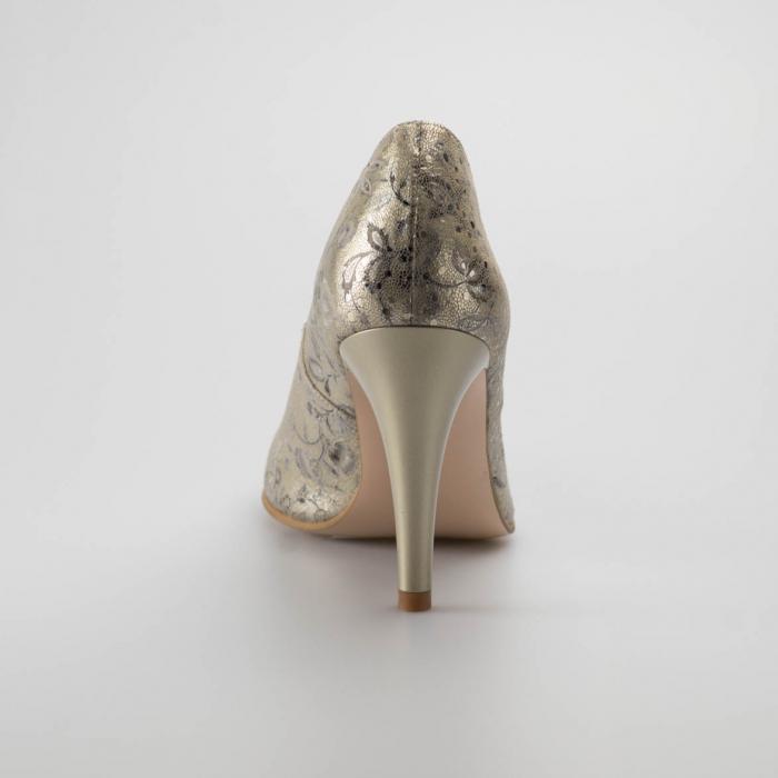 Pantofi dama din piele naturala cu imprimeu MSPD190-77-19 [3]