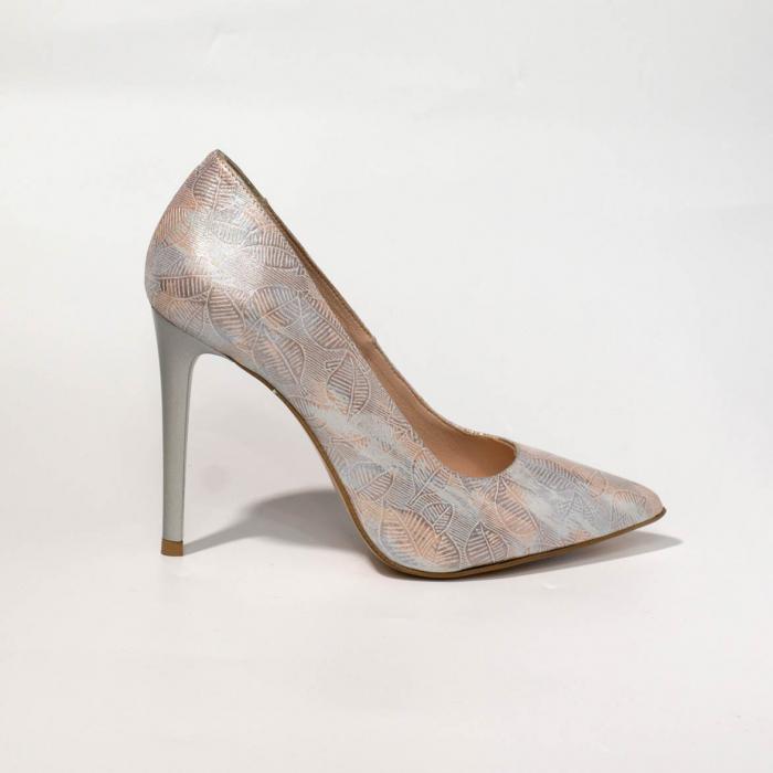 Pantofi dama din piele naturala cu imprimeu MSPD190-22-19 [0]
