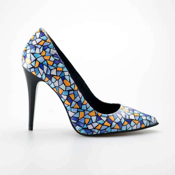 Pantofi dama din piele naturala cu imprimeu MSPD190-6-19 [0]