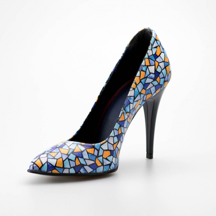 Pantofi dama din piele naturala cu imprimeu MSPD190-6-19 [2]