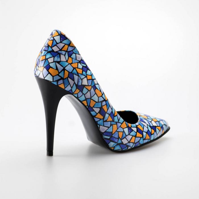 Pantofi dama din piele naturala cu imprimeu MSPD190-6-19 [1]