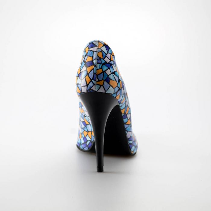 Pantofi dama din piele naturala cu imprimeu MSPD190-6-19 [3]