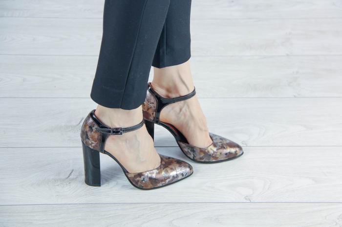 Pantofi decupati din piele naturala cu imprimeu MSSD1219-20 [0]