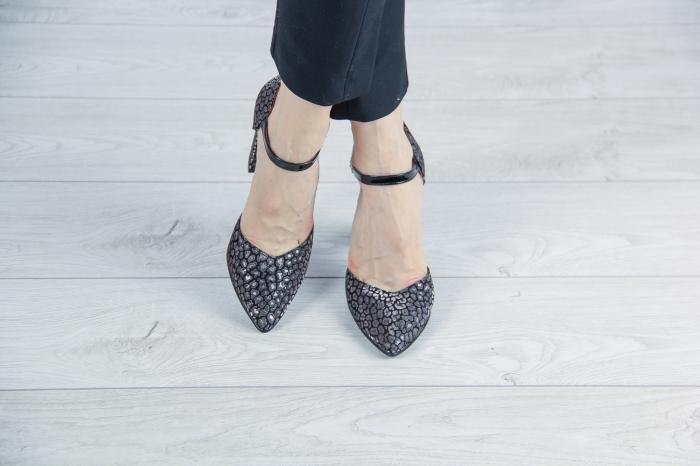 Pantofi decupati din piele  naturala cu imprimeu MSSD2720-20 [1]